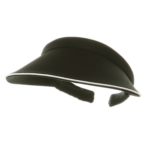 Piping Clip On Visor-Black ()