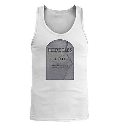 Fred #124 - Adult Men's Tank Top, White, XX-Large