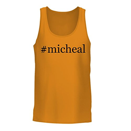 #micheal - A Nice Hashtag Men's Tank Top, Gold, Large