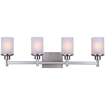 Canarm ivl408a04bn lyndi 4 light bath vanity brushed nickel