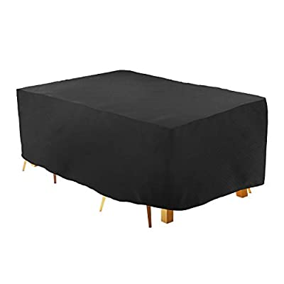 UYGHHK Outdoor Rectangular Patio Table and Chairs Cover, Durable Waterproof and UV-Resistent Fabric Outdoor Patio Furniture Cover Set