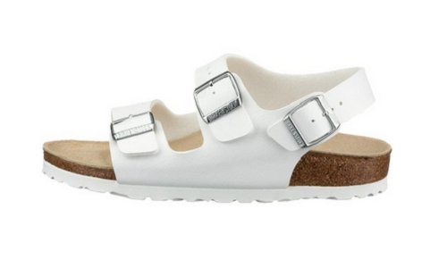 Birkenstock sandals Milano from Leather in White with a regular insole size 50.0 W EU