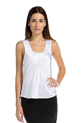 Fishers Finery Women's 100% Mulberry Silk Camisole; Scoop Neck (White, S) (Silk Scoop Camisole)