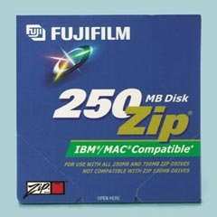 Fuji IBM/Mac® Compatible ZIP® Disks, 250MB, 5 per Pack by Fuji