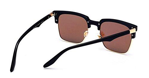 lunettes style retro Bleu inspirées du rond soleil Lennon de en Glacier cercle métallique polarisées vintage ORqXnqYAr
