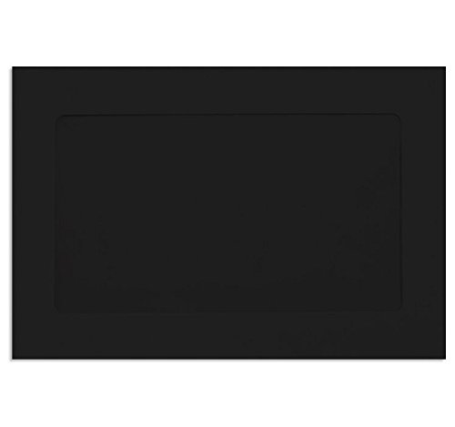 6 x 9 Full Face Window Envelopes - Midnight Black (50 Qty) | Perfect for mailing Documents, Catalogs, Direct Mail, Promotional Material, Brochures and More| FFW-69-B-50