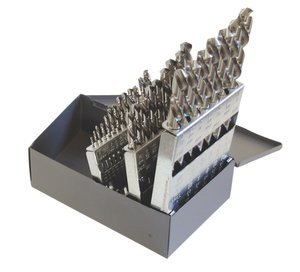 "29 Piece 1/16"" - 1/2"" x 1/64"" HSS Bright Finish 118° Left H"