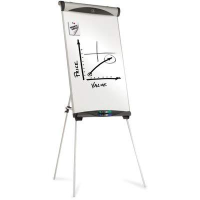 Quartet® Euro™ Magnetic Dry Erase Tripod Easel, 27 x 39, White by Quartet