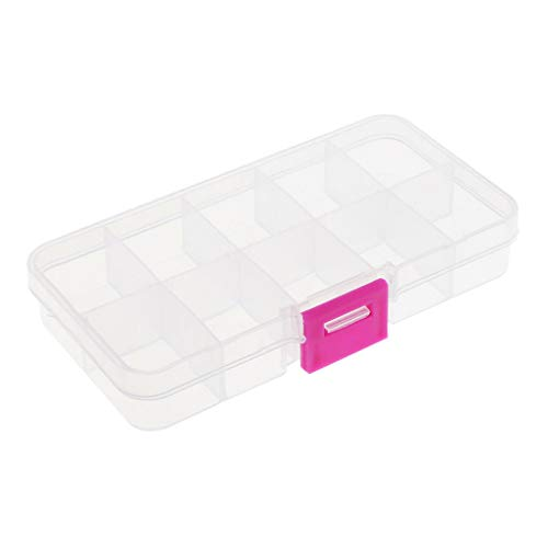 Clear Plastic Jewellery Storage Beads Storage Organiser Case Sewing Tool Box