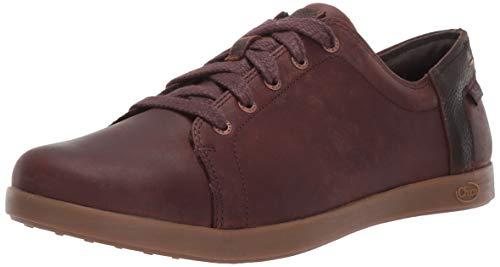 Chaco Women's Ionia Leather Lace Up Shoe, Mahogany, 9 M US