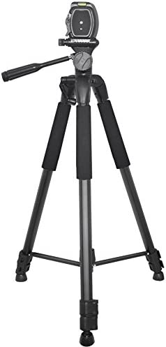 "Pro 75/"" Tripod 3-Way Panhead Tilt Motion w//Built in Bubble Leveling for Canon Rebel EOS SL1 SL2 T5 T5i T6i T6s T7i 60D 70D 77D 80D 6D 6D Mark II 7D 7D Mark II 5D Mark III IV 5Ds 5Ds R Digital Camera"