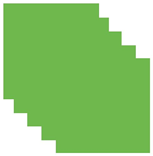 Siser EasyWeed Heat Transfer Vinyl HTV for T-Shirts 12 x 12 Inches 5 Precut Sheets (Apple Green) -