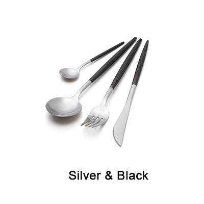 7 Colors Stainless Steel Cutlery Set Noble Fork Knife Desser