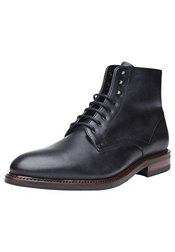 Shoepassion No. 668wi Kwaliteit Winter Schoenen Voor Mannen. Volledig Lederen Laarzen Met Gezellige Shearling Voeding En Non-slip Rubberen Zool. Zwart