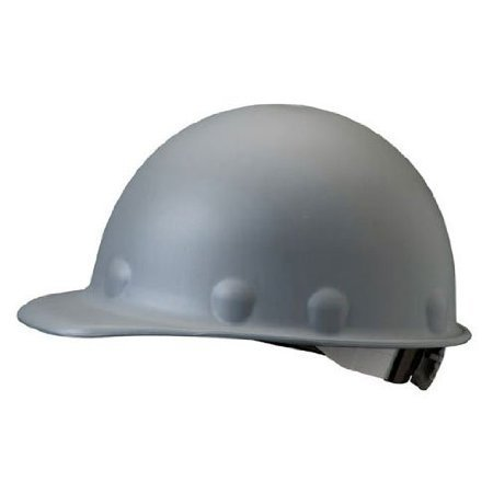 (Fibre-Metal Roughneck Gray Fiberglass Cap Style Hard Hat - 8-Point Suspension - Ratchet Adjustment - Strip-Proof - P2ARW09A000 [PRICE is per EACH])