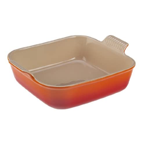 "Le Creuset Heritage Stoneware 5"" Square  Dish, Flame"