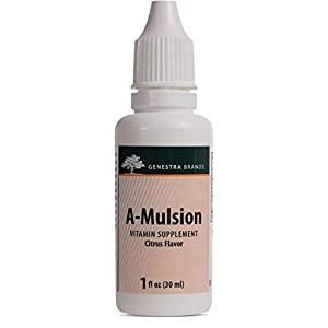 Genestra Brands A Mulsion Emulsified Vitamin A Liquid Citrus Flavor 1 fl oz (30 ml)