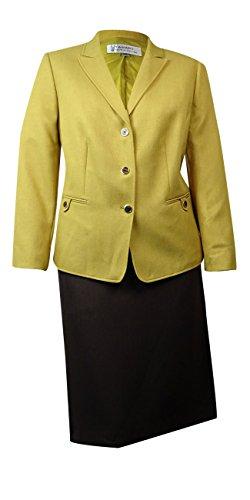 Tahari Women's Empire Couture Herringbone Skirt Suit (16W...