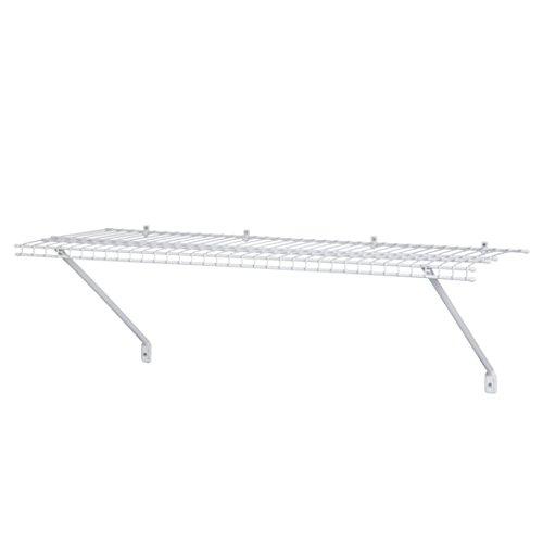 wall mounted wire shelving. ClosetMaid 51031 Wire Shelf Kit, 3-Feet, White Wall Mounted Shelving