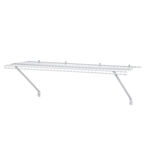 ClosetMaid 51031 Wire Shelf Kit, 3-Feet, - White Wire Shelf Usa