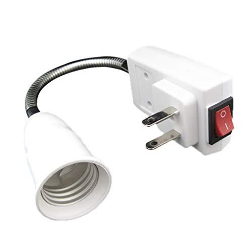 Tharv❤E26 Flexible Extension Adapter LED Light Bulb Lamp Holder Converter Screw Socket