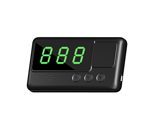 Kingneed GPS Vehicle Speed Head-Up Display, Speedometer Tracker with driving time and distance - C60 Car
