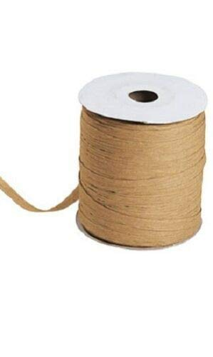 Cappuccino Matte Raffia Ribbon Gift Wrap Wedding 1/2'' Wide 500 Yards Bow by retail-warehouse