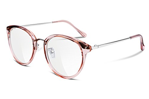 FEISEDY Clear Lens Glasses Frames Cozy Composite Frame Eyewear Women Men - Glasses Clear