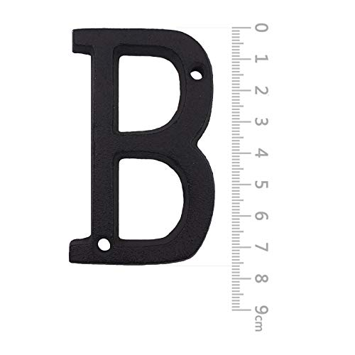 House Address Letters- 3 Inch High Innovative Wrought Iron Numbers, Vintage Nail on Die Cast Mailbox Letters,Letter B