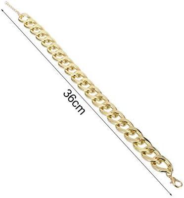 Bluevw - Collar de perro pequeño y mediano tamaño para mascotas con colgante de cadena de oro, collar de seguridad para cachorros, 36 cm, por Payne Roosevelt