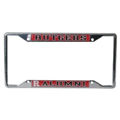 Rutgers Scarlet Knights Alumni Metal License Plate Frame W//domed Insert