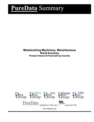 Metalworking Machinery, Miscellaneous World Summary: Product Values & Financials by Country (PureData World Summary)
