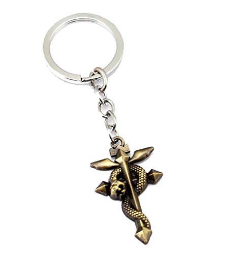 Anime Metal Pendant - Weeck Fullmetal Alchemist Anime Pendant KeyChain Snake Cosplay Gift Accessory (3)