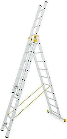 Escalera transformable de aluminio, 3 partes y autoestable: Amazon.es: Bricolaje y herramientas