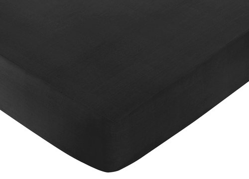 Fitted Crib Sheet for Black and White Chevron Collection Baby/Toddler Bedding by Sweet Jojo Designs - Black