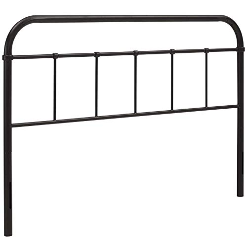 Modway MOD-5536-BRN Serena Rustic Farmhouse Style Steel Metal Queen Headboard Size in Brown ()
