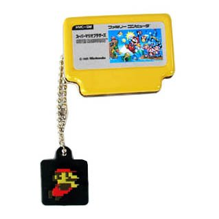 Amazon.com: Super Mario & famicom Llavero/Tin – Amarillo ...
