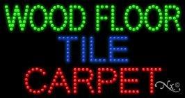 Wood Floor Tile Carpet - Ultra Bright LED Sign - 17'' x ()