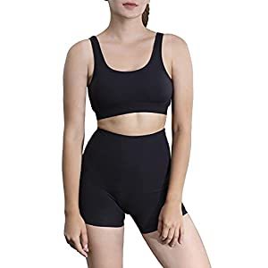 Misyula Style Workout Sets for Women 2 Piece Yoga Outfits Gym Shorts Sport Bra