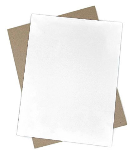 50 sheets - White Chipboard - 8.5 X 11 Inches - .022 Caliper Thick by Sunshine Gift Baskets