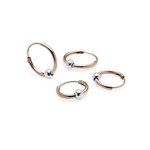 Endless Earrings Yellow Sterling Silver