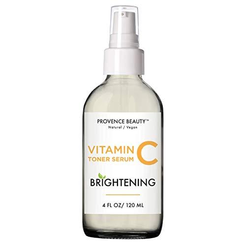 Provence Beauty | Brightening Vitamin C Toner Serum for Face + Setting Spray | Enhanced w/Green Tea & Aloe Vera | 4 FL OZ