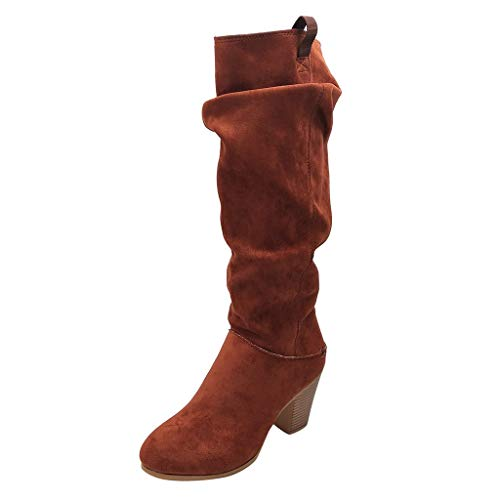 perfectCOCO Women Over The Knee Boots High Heels Western Cowboy Boot Autumn Winter Casual Roman Shoes Motorcycle Boots