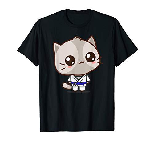 Blue Belt Jiu Jitsu - Funny cat bjj brazilian jiu jitsu blue belt kawaii t shirt