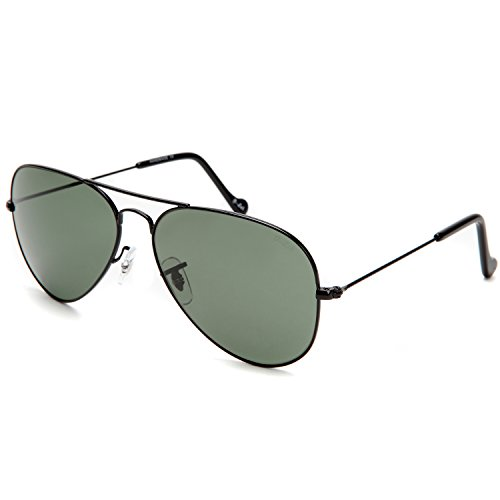 O-LET Damen Sonnenbrille grün grün Gr. Large, Gold Frame/Blue Mirror Lens