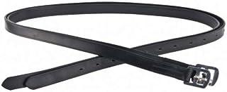 Bügelriemen étrivières en cuir, 120 cm (noir)