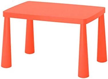 子供用学習机椅子セット 屋内、屋外、環境にやさしいプラスチック、安全・安定のために子供の表幼稚園赤ちゃんの学習テーブルのおもちゃ表、 学習机セット (Color : Orange, Size : 48x55x77cm)