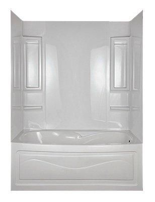 ASB 39240 Vantage Tub Wall White 5PieceBathtubsAmazoncom