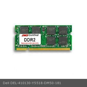 DMS Compatible/Replacement for Dell Y5518 Latitude D410 Essential 512MB DMS Certified Memory 200 Pin DDR2-400 PC2-3200 64x64 CL4 1.8V SODIMM - DMS