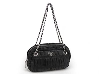 Image Unavailable. Image not available for. Color  Prada Black Gaufre Nappa Leather  Shoulder Bag BT0802 17cf0fb24ce39